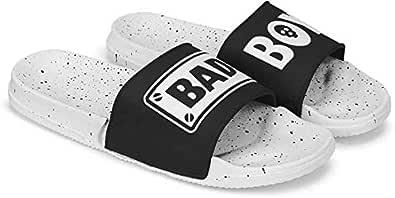 SPINOZA Men White Casual Flip-Flop & Slipper, Slip-on for Men Spin-Bad Boy White