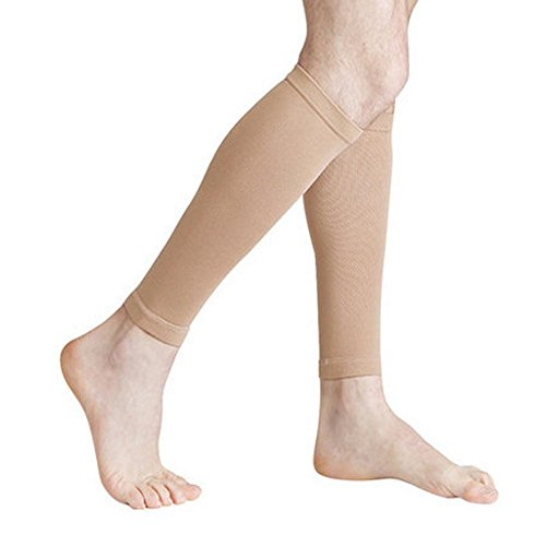 JasmineLi Women's Medical Compression Stockings, Knee High Open Toe Toeless Compression Socks Calf Compression Sleeve Footless Socks For Swelling,Varicose,Veins,Edema