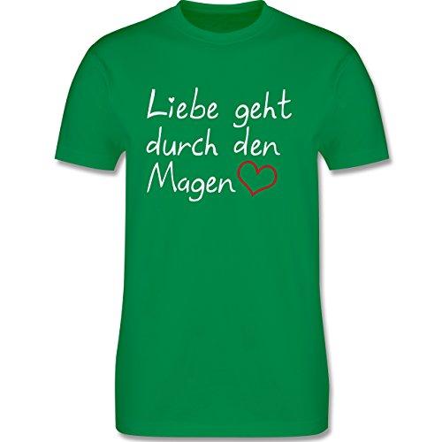 Küche - Liebe geht durch den Magen - Herren Premium T-Shirt Grün