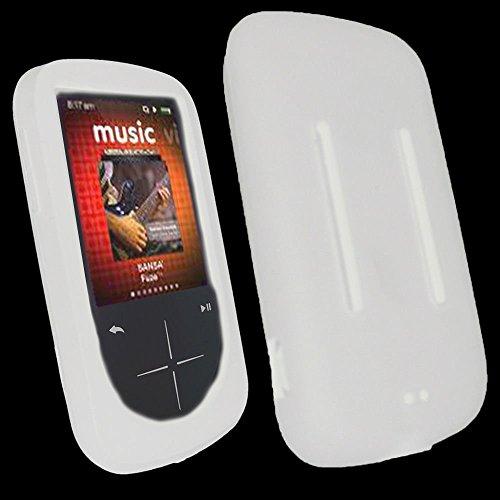 Neuf Blanc Coque en Silicone pour SanDisk Sansa Fuze Plus + Coque MP3fusible Coque Support