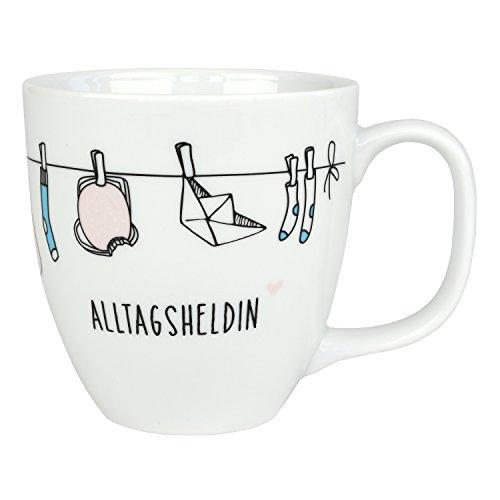Odernichtoderdoch Jumbo Tasse Alltagsheldin - 9,5 cm - 0,4 l - Porzellan - Kaffeetasse