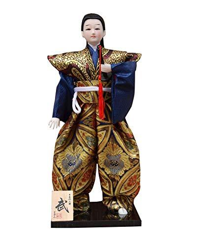 Black Temptation Japanische Einzigartige Samurai Vintage Sushi Bar Decor Puppe Figur ()