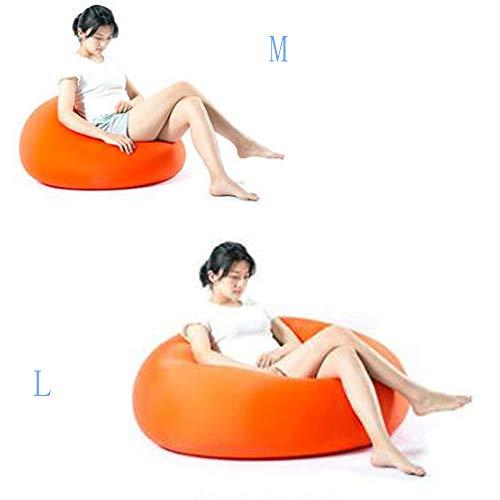 QMKJ Doux Waxy Haute élastique Sac de Haricots Forme aléatoire Sac de Haricots Chaise intérieure et extérieure Mat Balcon Baie fenêtre Lounger canapé pour Les Enfants Adultes L,Orange
