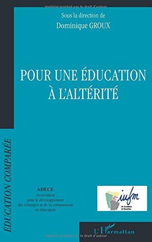 Pour une éducation à l'altérité