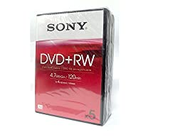 Sony Dvd+rw 4.7gb Video Box 4x 5pk Readwrite Dvds