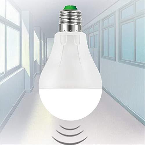 La lampadina del sensore a LED non si illumina durante il giorno Lampadina del sensore a microonde Corridoio del corridoio Lampada di induzione del corpo umano Lampada 6500K (bianco freddo) 7