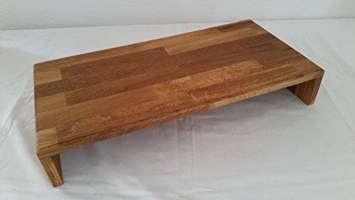 Schwarzwald-Holzstube Monitorerhöhung Tischaufsatz Eiche massiv geölt 60x30x10cm -