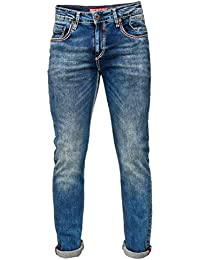 Rusty Neal Jeans Hose Men Denim Stone Washed Dicke Naht Vintage Blue Used  Straight Fit 195 d0115a77fc