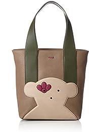 Tous Shopping Patch Greet, Shopper para Mujer, Varios Colores (Multi / Piedra), 14x32x37 cm (W x H x L)