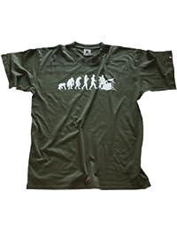 Shirtzshop Erwachsene T-Shirt Original Drummer Schlagzeuger Evolution