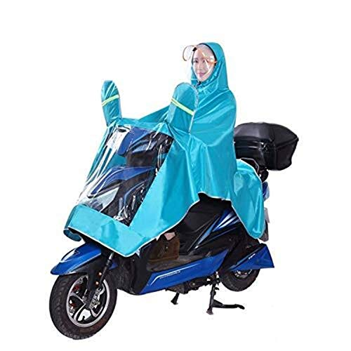 LULUDP Regenjacken Outdoor-Bike Regen-Gang Doppel Kleber Motorrad Regenbekleidung Mat Fahrrad Poncho Regen-Mantel-Cycling-Abdeckung Regen Large Size Wasserdichtes Regenmantel-Set (Color : H)