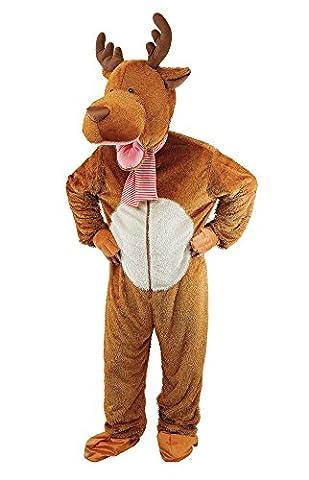 Bristol Novelty AC942 Big Head Reindeer/Moose Costume, 44-Inch Chest Size