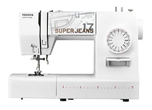 Toyota SUPERJ17W Super Jeans - Máquina de coser, 17 programas, hasta 12 capas, 65 W, blanco