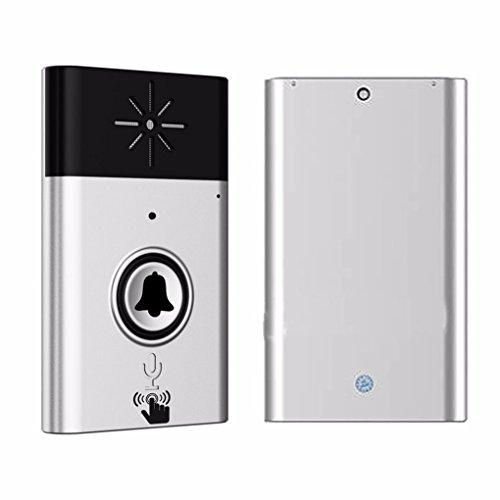 1-1 h6 campanello senza fili con la voce citofono intelligente a batteria 300m distanza trasmettitore esterno ricevitore indoor regard