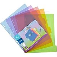 Viquel - Lot de 6 intercalaires en plastique - Maxi format (24,5x30,5cm) - Pour classeur A4 Maxi format ou classeur à…