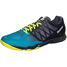 Reebok Crossfit Speed Training Shoes Mens Blue/Yel Gym Fitness Trainers Sneaker