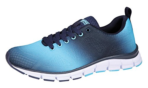 Mens Shoe 41 42 43 44 45 46 Boras spruzzato blu Moda Sport Sneaker, Herren Größen:45;Farben:blau