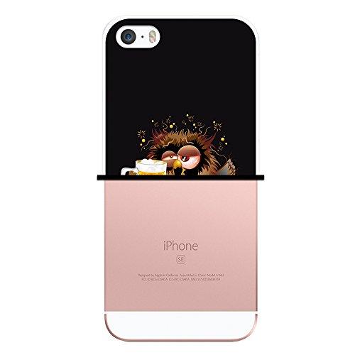 iPhone SE iPhone 5 5S Hülle, WoowCase® [Hybrid] Handyhülle PC + Silikon für [ iPhone SE iPhone 5 5S ] Husky-Hunde Sammlung Tier Designs Handytasche Handy Cover Case Schutzhülle - Transparent Housse Gel iPhone SE iPhone 5 5S Transparent D0294