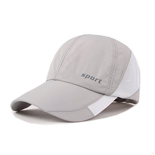 Lightweight Run Baseball Hat Outdoor Sport cap (Sport Series, Light Gray)