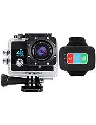Wallzkey W2 Caméra de SONY CMOS Sport et Action 4K 25fps Ultra HD Wifi - Camera étanche 16 Mp - command à distance (Noire)