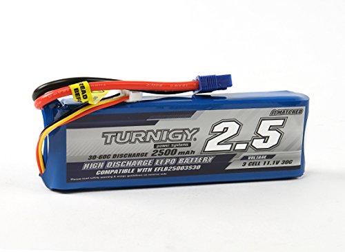 Turnigy 2500 mAh 3S 30C Lipo Akku Pack EC3 (E-flite Compatible EFLB25003S30) Modellbau Eibl