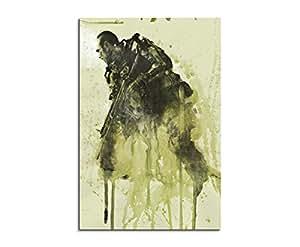 Call of duty advanced warfare 90 x 60 cm motif peinture aquarelle kunstbild wTD toile de paul sinus art