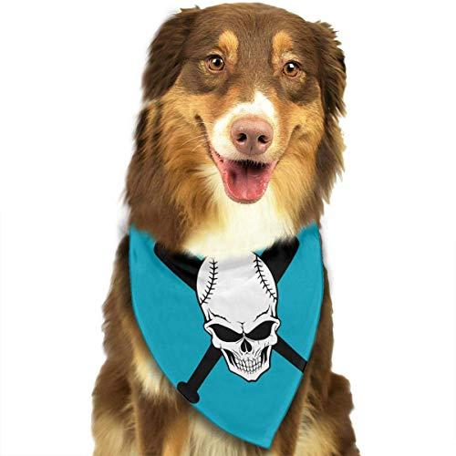 Haustier Schal Baseball Schädel Classic Pet Bandana Haustier Halsbänder für Hund Katze eine Größe ()