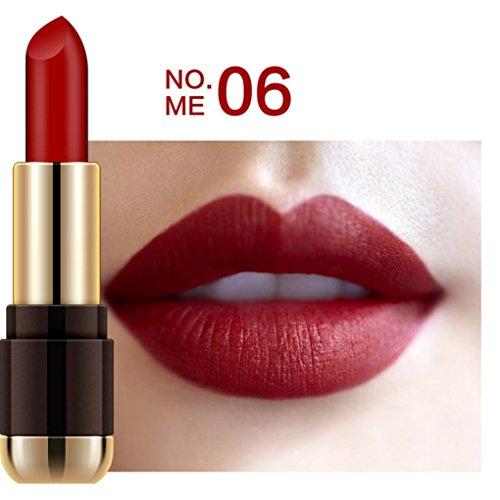 Malloom® Imperméable Longue durée Rouge à lèvres velouté Brillant Crayon Outil de beauté (#06)