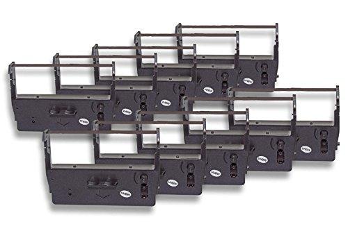 Preisvergleich Produktbild vhbw 10x Farbband Nylonband Tintenband für Nadeldrucker ADS Anker Data System Cash-Register-Printer ADS 14.5008 wie ERC-23, C43S015360, ERC-23B