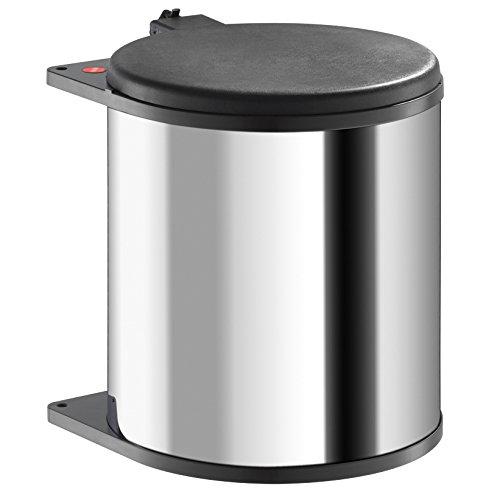 Hailo 371510 - Cubo de la basura (acero inoxidable, 15 L)