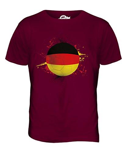 CandyMix Deutschland Fußball Herren T Shirt Burgunderrot