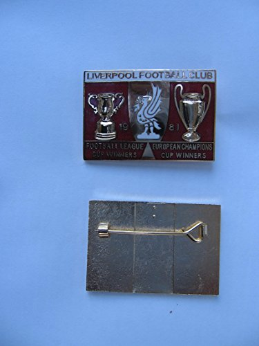 Liverpool Football Club Lapel badge 1981 Mint pin vintage  collectable  enamel winners 1981 mint condition Limited edition  a real piece of history pin badge sold by Sportsbits UK