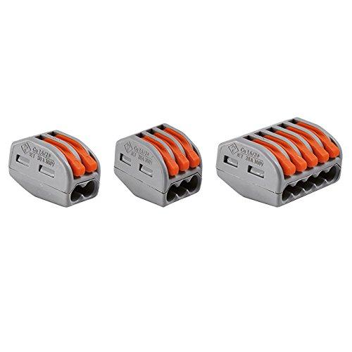 Wago - 30 Stück-Packung mit verschiedenen, automatischen 2-Leiter