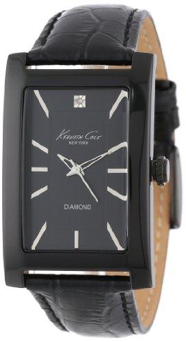 Kenneth Cole Women's Modern Core KC1985 Black Leather Quartz Watch with Black Dial