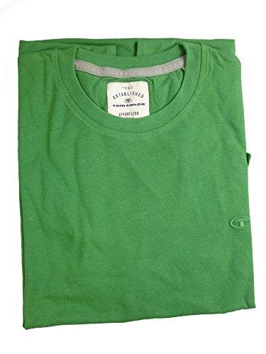 TOM TAILOR -  T-shirt - Maniche corte  - Uomo verde XX-Large