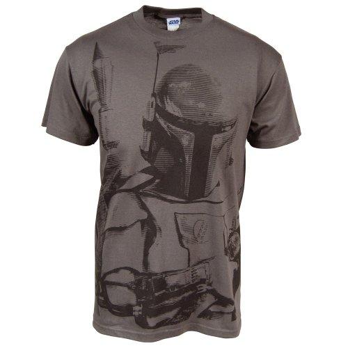 Mens Star Wars Sarlacc Bait Boba Fett T Shirt Charcoal