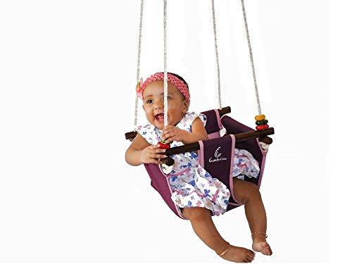 CuddlyCoo Baby / Toddler Swing (Violet Red)