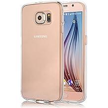 Samsung Galaxy S6 Funda, iVoler TPU Silicona Case Cover Dura Parachoques Carcasa Funda Bumper para Samsung Galaxy S6, [Ultra-delgado] [Shock-Absorción] [Anti-Arañazos] [Transparente]- Garantía Incondicional de 18 Meses