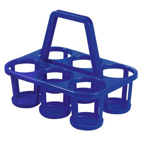 Flaschenträger / Halter für 6 Flaschen, Kunststoff, farblich sortiert (1 Stück)