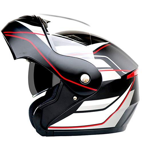 Ysh yshmotocicletta moto caschi bluetooth modulari flip-up bluetooth touring caschi doppia lente nuovi colori,matteblack5flower-xxl(63-64cm)