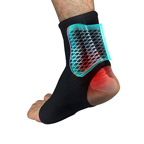 Vuffuw Plantar Fasciitis Socks, Ankle Brace with Foot Pain Relief Heel Pain Treatment, Compression Foot Sleeves for Injury Rehab & Joint Pain Mountain Climbing Football Tennis Basketball Running Heel Ankle Wrap