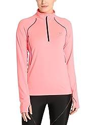 Ultrasport Salia - Camiseta funcional de correr/deporte para mujer, manga larga, capa intermedia Salia, color rosa, talla S