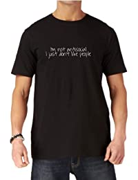Funny Mens Slogan T-shirt - I'm not antisocial I just don't like people by Dead Fresh