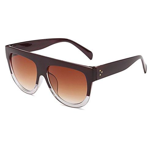 Juleya Womens Schildkröte Schild Oversized Schwarz Flat Top Shadow Sonnenbrille C8