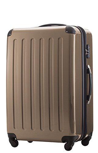 119 Liter Hartschalen Koffer · (75 x 52 x 32 cm) · Hochglanz · TSA Zahlenschloss · ORANGE HAUPTSTADTKOFFER DvwMY