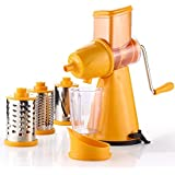 SELL ON 4 In 1 Multi-functional BPA-free ABS Plastic Grater Rotary Drum Slicer/Cutter/Shredder (Orange)