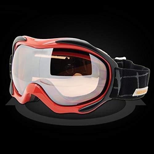 Frauen professionelle Ski Brille doppelt Anti-Fog Winddicht Brille Outdoor-Schutzbrille Schutzausrüstung 17,5 * 9 cm grün LJJOZ (Color : Red) - Grün Frauen-ski-schutzbrillen