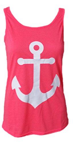 erdbeerloft - Mädchen Tank Top - Maritimes Shirt mit Anker und Schleife, 34-40, Viele Farben Pink