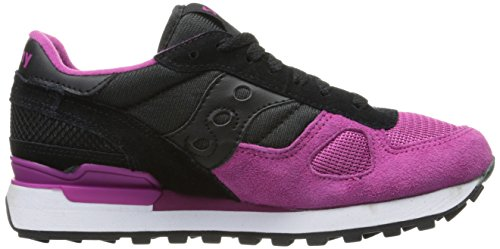 Saucony Shadow Original unisex adulto, pelle scamosciata, sneaker bassa Black/pink