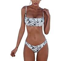 Meizas Conjuntos de Bikinis para Mujer Push Up Bikini Traje de baño de Tanga de Cintura Baja Trajes de baño Adecuado Viajes Playa La Natacion